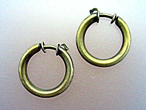 Brass Springback Hoop Earrings Germany