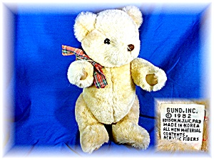 Gund 1982 13 Inch Plush Jointed Teddy Bear.