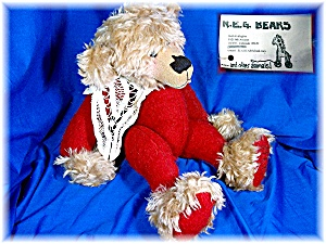 Handmade Mohair And Wool 16 Inch Teddy Bear #426