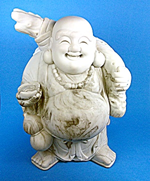 Standing Happy Buddha Ho Tai Cultured Marble