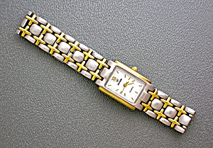 Silver And Gold Nivada Ladies Quartz Wristwatch