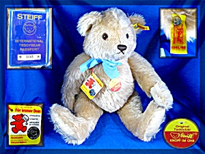 Steiff Teddy Bear With Passport Number 0445