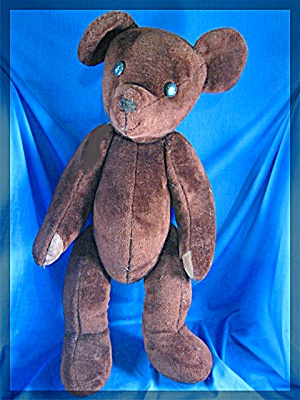Vintage Large Brown Teddy Bear - 23 Inches