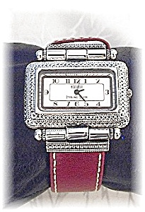Sterling Face Ecclissi Red Band Watch