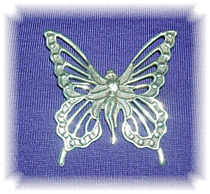 Fabulous Sterling Silver Lang Nymph Fairy Pin