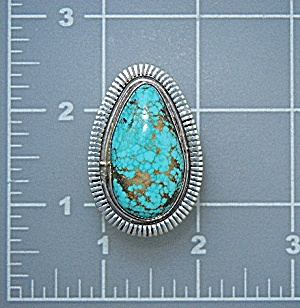 Navajo Sterling Silver Carico Lake Turquoise Ring