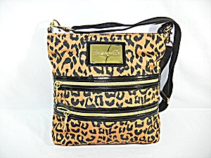 Bag Purse Betseyville Black Leopard Print