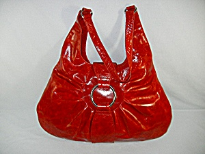 Bag Purse Red Leather By Latico