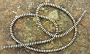 Native American Sterling Silver Beads Necklace