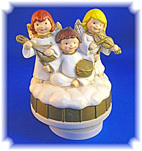 Angels Revolving Music Box By Colonial Candle.....