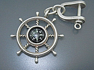 Tiffany & Co Sterling Silver Compass Key Chain