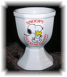 White China Snoopy Good Morning Egg Cup....