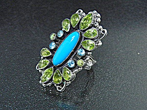 Leo Feeney Sterling Silver Sleeping Beauty Turquoise Ri