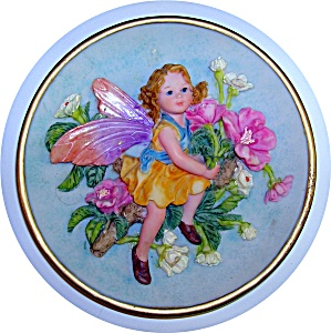 Angel Fairy Collector Plate With Flowers.....