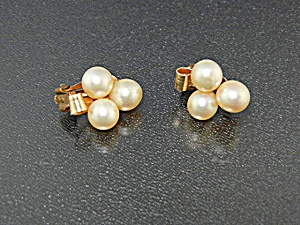 Earrings Cultured Pearls 7mm 12k Gold Fill Clips