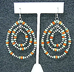 Navajo Sterling Silver Gaspeite Spiny Oyster Earrings