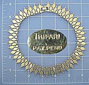 Trifari Pat Pending Gold Necklace