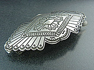 Navajo Sterling Silver Hair Barrette P. Yellowhorse