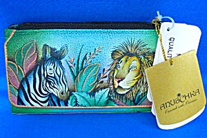 Anuschka Hand Painted Leather African Adventure Wallet