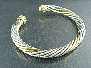 14k Gold And Sterling Silver Bracelet By Alwand Vaughn