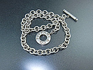 Tiffany Sterling Silver Necklace Tiffany & Co Toggle