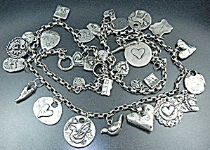 Jes Maharry Silver Charms Sundance Necklace 32 Inches