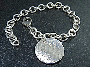 Tiffany & Co New York Sterling Silver Notes Bracelet