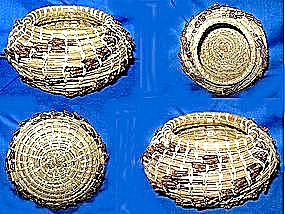 Contemporary Native American Pine Needle Basket