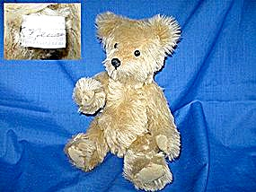 Mohair Teddy Bear, Artist Signed K. Neuring