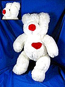 Teddy Bear With A Red Heart And Nose Soft Lovable