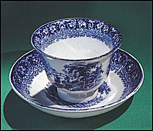 Flow Blue: Tivoli Cup And Saucer Set