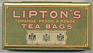 Lipton's Orange Pekoe Tea Bags Tin