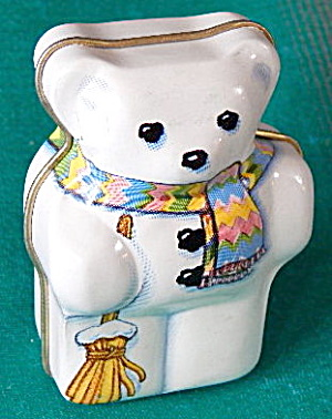 Vintage Bear Tins Set Of 2