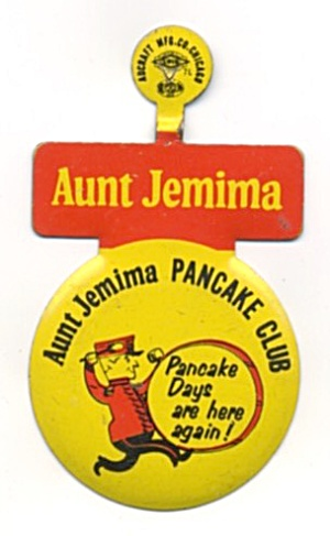 Aunt Jemima Pancake Club Metal Button