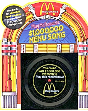 "Mcdonald's ""million Dollar Menu Song"" Contest Record"