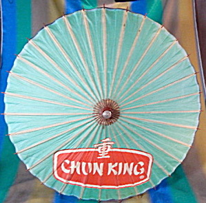 Vintage Chun King Food Large Paper Umbrella Advertising