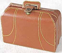 Vintage Minature Faux Leather Suitcase First Aid Kit