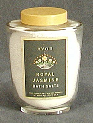 Vintage Avon: Royal Jasmine Bath Salts Bottle