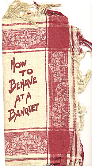 How To Behave At A Banquet Linen Brocade Napkin Cover