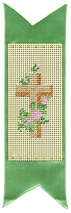 Vintage Punch Paper Bookmark Cross