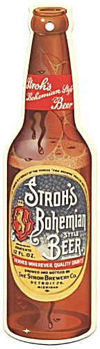 Vintage Stroh's Bohemian Style Beer Sign