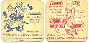 Hamm's Beer Chicago Cubs Sox Wgn coasters