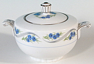 Narumi Blue Button Sugar Bowl