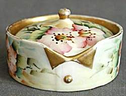 Vintage Hand Painted Rosenthal Collar Studs/ Button Box