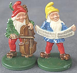 Vintage Plastic German Elf Pair