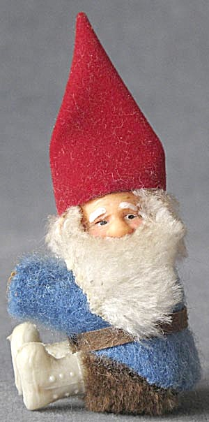 Vintage Gnome Hugger Christmas Ornament