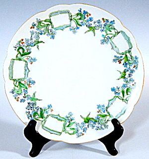 Hand Painted & Signed Forget Me Not Plate