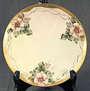 Hand Painted & Signed Apple Blossom Plate