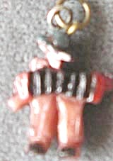 Vintage Celluloid Accordion Player Charms