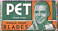 Vintage 1950s Pet Single Edge Unused Razor Blade